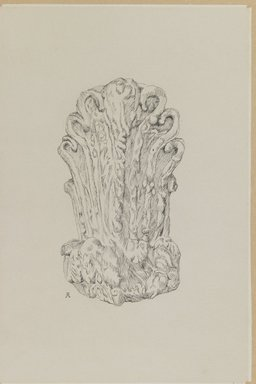 James Tissot (French, 1836-1902). Judaic Ornament, 1886-1887 or 1889. Pen and ink on paper mounted on board, Sheet: 8 13/16 x 5 7/8 in. (22.4 x 14.9 cm). Brooklyn Museum, Purchased by public subscription, 00.159.436