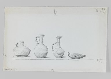 James Tissot (French, 1836-1902). Vases of Judea, 1886-1887 or 1889. Pen and ink on paper mounted on board, Sheet: 6 x 9 3/4 in. (15.2 x 24.8 cm). Brooklyn Museum, Purchased by public subscription, 00.159.437.1