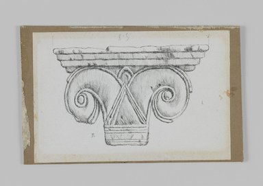 James Tissot (French, 1836-1902). Phoenician Capital, 1886-1887 or 1889. Pen and ink on paper mounted on board, Sheet: 3 7/8 x 5 13/16 in. (9.8 x 14.8 cm). Brooklyn Museum, Purchased by public subscription, 00.159.438.3