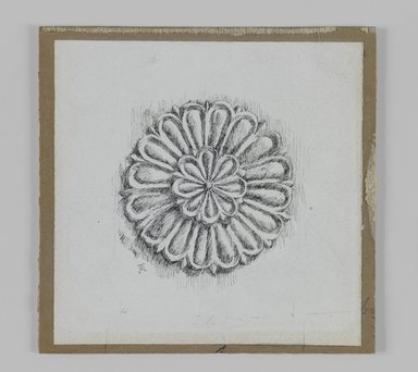 James Tissot (French, 1836-1902). Judaic Ornament, 1886-1887 or 1889. Pen and ink on paper, Sheet: 3 9/16 x 3 9/16 in. (9 x 9 cm). Brooklyn Museum, Purchased by public subscription, 00.159.438.4