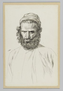 James Tissot (French, 1836-1902). An Armenian, 1886-1887 or 1889. Ink on wove paper mounted on board, Sheet: 7 3/16 x 4 11/16 in. (18.3 x 11.9 cm). Brooklyn Museum, Purchased by public subscription, 00.159.443