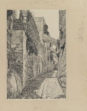 James Tissot (French, 1836-1902). Via Dolorosa, 1886-1887 or 1889. Ink and graphite on paperboard, Image: 8 13/16 x 5 15/16 in. (22.4 x 15.1 cm). Brooklyn Museum, Purchased by public subscription, 00.159.457