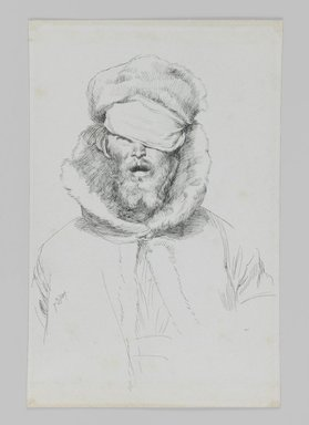 James Tissot (French, 1836-1902). Type of Jew, 1886-1887 or 1889. Ink on paper, Sheet: 7 1/8 x 4 5/8 in. (18.1 x 11.7 cm). Brooklyn Museum, Purchased by public subscription, 00.159.459