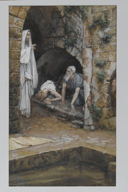 James Tissot (French, 1836-1902). The Man with an Infirmity of Thirty-Eight Years (Le malade de trente-huit ans), 1886-1894. Opaque watercolor over graphite on gray wove paper, Image: 10 1/2 x 6 1/4 in. (26.7 x 15.9 cm). Brooklyn Museum, Purchased by public subscription, 00.159.67