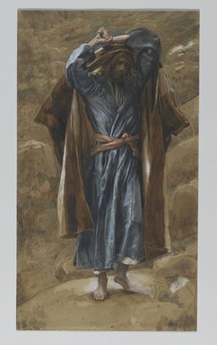 James Tissot (French, 1836-1902). Saint Philip (Saint Philippe), 1886-1894. Opaque watercolor over graphite on gray wove paper, Image: 11 1/8 x 6 5/16 in. (28.3 x 16 cm). Brooklyn Museum, Purchased by public subscription, 00.159.70