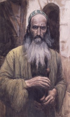 James Tissot (French, 1836-1902). Saint Paul, 1886-1894. Opaque watercolor over graphite on gray wove paper, Frame: 21 1/4 x 16 1/4 x 1 1/2 in. (54 x 41.3 x 3.8 cm). Brooklyn Museum, Purchased by public subscription, 00.159.83