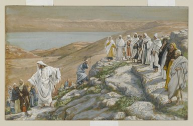 James Tissot (French, 1836-1902). Ordaining of the Twelve Apostles (Election des douze apôtres), 1886-1894. Opaque watercolor over graphite on gray wove paper, Image: 6 11/16 x 10 9/16 in. (17 x 26.8 cm). Brooklyn Museum, Purchased by public subscription, 00.159.98