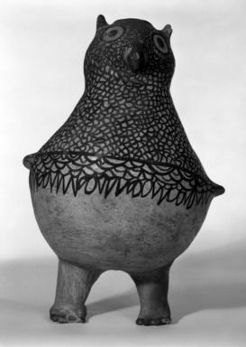 She-we-na (Zuni Pueblo) (Native American). Owl Vessel, 1868-1933. Clay, pigment, 12 3/16 x 9 7/16in. (31 x 24cm). Brooklyn Museum, By exchange, 01.1535.2190. Creative Commons-BY