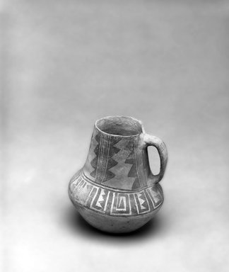 Ancient Pueblo (Anasazi) (Native American). Black on White Pitcher. Clay, slip, 5 1/2 x 6 1/2 in. (14 x 16.5 cm). Brooklyn Museum, Gift of Charles A. Schieren, 01.1538.1750. Creative Commons-BY
