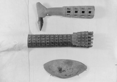 Ceremonial Ax. Wood, 3 15/16 x 18 1/2 in. (10 x 47 cm). Brooklyn Museum, Brooklyn Museum Collection, 02.11. Creative Commons-BY