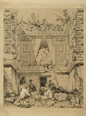 Brooklyn Museum: Archway, Casa del Gobernador, Uxmal, Yucatan