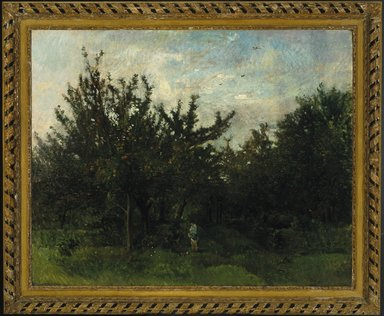 Charles-François Daubigny (French, 1817-1878). An Apple Orchard, 1871-1878. Oil on glue-lined canvas, 51 x 64 in.  (130.2 x 162.6 cm). Brooklyn Museum, Gift of A. Augustus Healy, 02.252