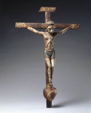 José Rafael Aragón (ca. 1795-1862). Crucifix, ca. 1795-1862. Pine, leather, gesso, water-based paints, Cross: 22 1/2 x 14 1/2 in. (57.2 x 36.8 cm). Brooklyn Museum, Brooklyn Museum Collection, 02.257.2427. Creative Commons-BY