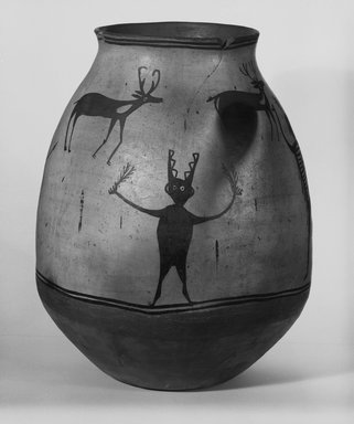 Ko-Tyit (Cochiti Pueblo) (Native American). Water Jar or Olla, late 19th century. Ceramic, pigment, height: 19 3/4 (50.2 cm); diameter: 8 7/8 in. (22.5 cm). Brooklyn Museum, Riggs Pueblo Pottery Fund, 02.257.2471. Creative Commons-BY