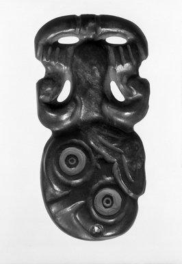 Maori. Pendant (Hei-tiki). Nephrite, sealing wax, 4 1/2 x 2 3/8 x 3/16 in.  (11.5 x 6 x .5 cm). Brooklyn Museum, Brooklyn Museum Collection, 03.210. Creative Commons-BY