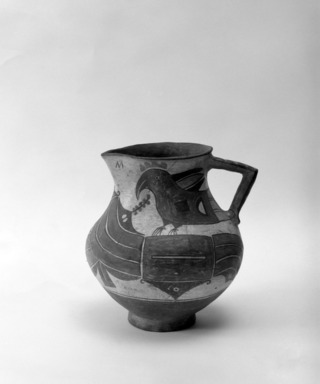 Haak'u (Acoma Pueblo) (Native American). Pitcher with Parrots. Clay, pigment, slip, 8 1/16 x 7 7/8 in. (20.5 x 20 cm). Brooklyn Museum, Brooklyn Museum Collection, 03.224. Creative Commons-BY