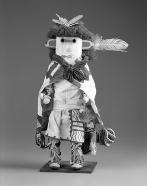 She-we-na (Zuni Pueblo) (Native American). Kachina Doll (Pa-li Tewa), late 19th century. Wood, pigment, fur, feather, wool, cotton, silk, hide, 17 1/2 x 10 x 4 3/4 in. (44.5 x 25.4 x 12.1 cm). Brooklyn Museum, Museum Expedition 1903, Museum Collection Fund, 03.325.4639. Creative Commons-BY