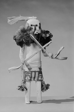 She-we-na (Zuni Pueblo) (Native American). Kachina Doll (Salamopea Kohana Ansuwa), late 19th century. Wood, pigment, metal, feathers, paper, cotton, wool, yucca, 15 1/2 x 9 3/4 x 5 1/2 in (40.0 x 14.5 cm). Brooklyn Museum, Museum Expedition 1903, Museum Collection Fund, 03.325.4657. Creative Commons-BY