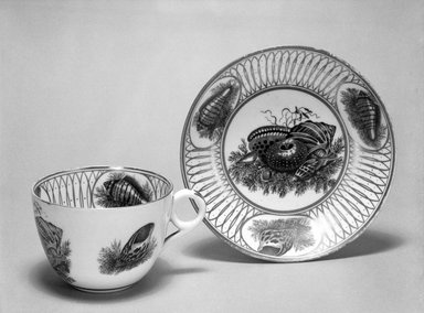 Cup and Saucer, ca. 1830. Decorated porcelain, Cup: 2 3/8 x 3 5/16 in. (6 x 8.4 cm). Brooklyn Museum, Gift of Reverend Alfred Duane Pell, 03.328.153a-b. Creative Commons-BY