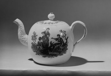 Teapot, 1760-1770. Creamware, 4 3/4 x 2 11/16 (of top) in. (12.1 x 6.8 cm). Brooklyn Museum, Gift of Reverend Alfred Duane Pell, 03.328.206. Creative Commons-BY