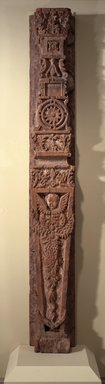 Bernardo Miera y Pacheco. Carved Pilaster from Our Lady of Guadalupe, 1701-1800. Wood, gesso, pigments, 103 1/2 x 14 in. (256.5 x 36.0 cm). Brooklyn Museum, Museum Expedition 1904, Museum Collection Fund, 04.297.5143. Creative Commons-BY