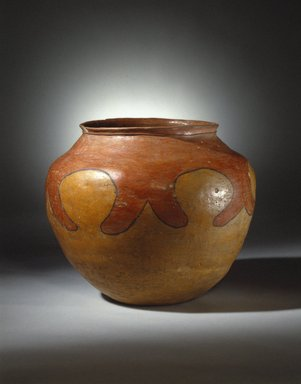 She-we-na (Zuni Pueblo) (Native American). Jar Drum (Tai-pai-hau-nai) used When Girls Grind Corn, 19th century. Clay, slip, 15 x 17 x 17 in. (38.1 x 43.2 x 43.2 cm). Brooklyn Museum, Museum Expedition 1904, Museum Collection Fund, 04.297.5279. Creative Commons-BY