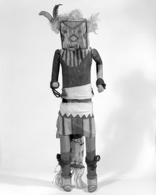 Mau-i (She-we-na (Zuni Pueblo), Native American). Kachina Doll (Matoya), late 19th - early 20th century. Wood, pigment, cotton, hide, 17 11/16 x 4 9/16 x 4 1/16in. (45 x 11.6 x 10.3cm). Brooklyn Museum, Museum Expedition 1904, Museum Collection Fund, 04.297.5346. Creative Commons-BY