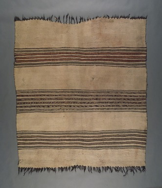 She-we-na (Zuni Pueblo) (Native American). Blanket, 19th century. Handspun wool, 58 x 52 3/8 in. (147.3 x 133 cm). Brooklyn Museum, Museum Expedition 1904, Museum Collection Fund, 04.297.5422. Creative Commons-BY