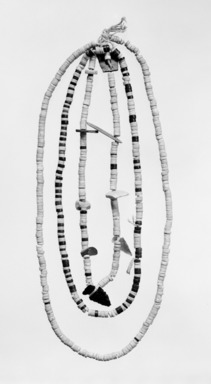 She-we-na (Zuni Pueblo) (Native American). Necklace, ca. 1100-1400. Stone, shell, string, 9/16 x 11 13/16 x 1 7/8in. (1.5 x 30 x 4.7cm). Brooklyn Museum, Museum Expedition 1904, Museum Collection Fund, 04.297.5471. Creative Commons-BY