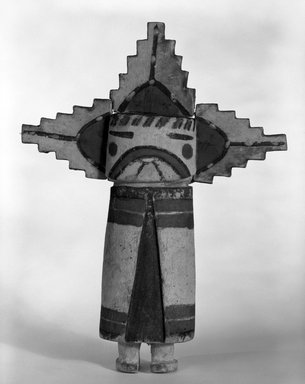 Hopi Pueblo (Native American). Kachina Doll (Palhikmana) or Stick, late 19th century. Wood, pigment, 32 5/8 x 1 7/8 in. (82.9 x 4.8 cm). Brooklyn Museum, Museum Expedition 1904, Museum Collection Fund, 04.297.5531. Creative Commons-BY