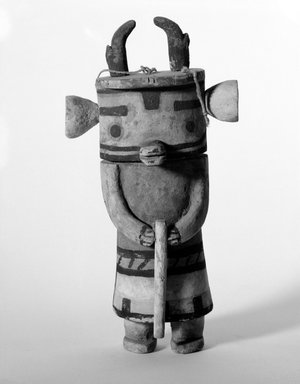 Hopi Pueblo (Native American). Ysivkatsina [Antelope] Kachina Doll, late 19th century. Wood, pigment, string, 11 x 5 5/8 x 3 in. (27.9 x 14.3 x 7.6 cm). Brooklyn Museum, Museum Expedition 1904, Museum Collection Fund, 04.297.5566. Creative Commons-BY