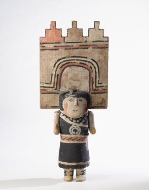 Hopi Pueblo (Native American). Kachina Doll (Pahlikmana), late 19th century. Wood, pigment, cotton, feather, 21 7/8 x 9 1/4 in. (55.5 x 23.5 cm). Brooklyn Museum, Museum Expedition 1904, Museum Collection Fund, 04.297.5592. Creative Commons-BY