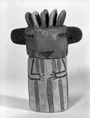 Hopi Pueblo (Native American). Kachina Doll (Tokwunauw [Pillar]), late 19th century. Wood, pigment, 7 1/4 x 3 x 2 1/16 in. (18.4 x 7.6 x 5.3 cm). Brooklyn Museum, Museum Expedition 1904, Museum Collection Fund, 04.297.5600. Creative Commons-BY