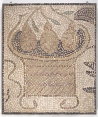 Roman. Mosaic of Square Basket with Fruit, 6th century C.E. Stone and mortar, 1 3/4 x 23 13/16 x 27 7/8 in. (4.4 x 60.5 x 70.8 cm). Brooklyn Museum, Museum Collection Fund, 05.24. Creative Commons-BY