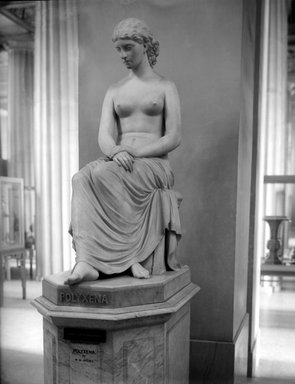 William Wetmore Story (American, 1819-1895). Polyxena, 1873. Marble, Statue: 54 1/2 x 24 x 44 1/2 in. (138.4 x 61 x 113 cm). Brooklyn Museum, Gift of George Freifeld, 05.240. Creative Commons-BY