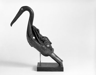 Tlingit (Native American). Oyster Catcher Rattle, late 19th century. Wood, abalone shell, 9 x 13 x 5 in. (22.9 x 33 x 12.7 cm). Brooklyn Museum, Brooklyn Museum Collection, 05.273. Creative Commons-BY