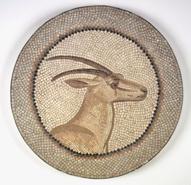 Roman. Mosaic of a Gazelle in a Medallion, 1st-2nd century C.E. Stone and mortar, 1 1/4 x 21 1/4 in. (3.2 x 54 cm). Brooklyn Museum, Museum Collection Fund, 05.30. Creative Commons-BY