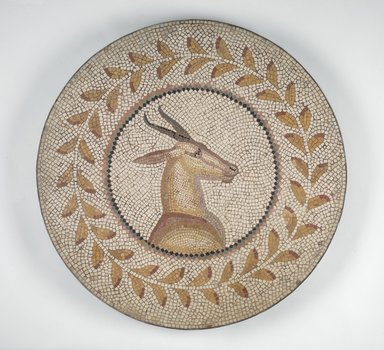 Roman. Mosaic of a Gazelle in a Vine, 1st-2nd century C.E. Stone and mortar, 1 3/8 x 28 1/16 in. (3.5 x 71.3 cm). Brooklyn Museum, Museum Collection Fund, 05.31. Creative Commons-BY