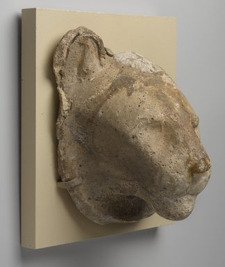 Sculptor's Model Head of a Lion, 332 B.C.E. - 30 B.C.E. Plaster, 6 15/16 x 5 13/16 x 4 1/2 in. (17.7 x 14.8 x 11.5 cm). Brooklyn Museum, Charles Edwin Wilbour Fund, 05.311. Creative Commons-BY