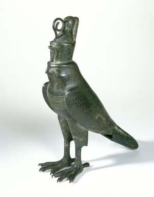 Horus Falcon-Form Coffin, 664-30 B.C.E. Bronze, gold, 11 3/4 x 2 3/4 x 11 1/2 in. (29.8 x 7 x 29.2 cm). Brooklyn Museum, Charles Edwin Wilbour Fund, 05.394. Creative Commons-BY