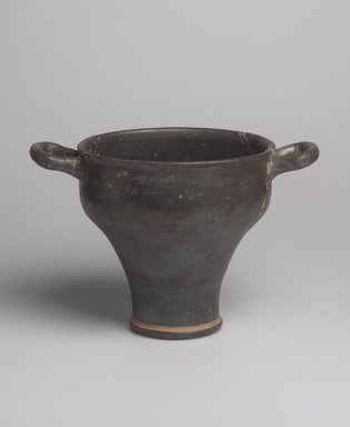 Brooklyn Museum: Black South Italian Vase