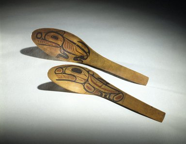 Tom Price (Haida, Native American, 1857-1927). Feast Spoon, late 19th century. Wood, pigment, 10 1/2 x 2 1/2 x 4 in. (26.7 x 6.4 x 10.2 cm). Brooklyn Museum, Museum Expedition 1905, Museum Collection Fund, 05.588.7331. Creative Commons-BY