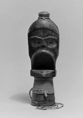 Gwa'sala Kwakwaka'wakw (Native American). Hamatsa Whistle, 19th century. Cedar wood, cotton cord, resin, pigment, 8 11/16 x 2 3/4 in. (22.1 x 7 cm). Brooklyn Museum, Museum Expedition 1905, Museum Collection Fund, 05.588.7351. Creative Commons-BY