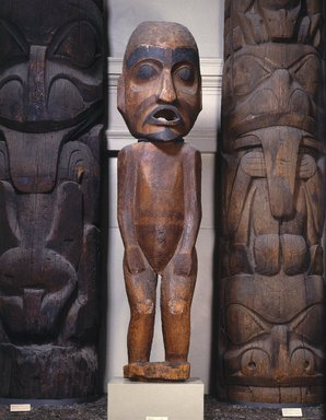 Haida (Native American). Totem Pole for Beaver House, mid 19th century. Cedar wood, (a) section: 264 x 39 1/2 x 27 in., 1200 lb. (670.6 x 100.3 x 68.6 cm, 544.3kg). Brooklyn Museum, Museum Expedition 1911, Purchased with funds given by Robert B. Woodward, 11.703a-b. Creative Commons-BY