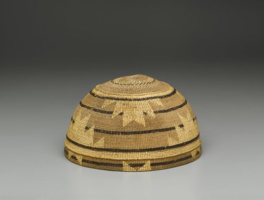 Yurok (Native American). Twined Basket Hat, late 19th century. Fiber, 3 3/4 x 6 3/4 in. (9.5 x 17.2 cm). Brooklyn Museum, Museum Expedition 1905, Museum Collection Fund, 05.588.7538. Creative Commons-BY