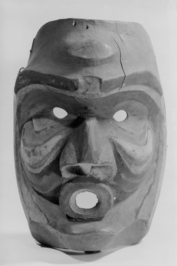 Nuu-chah-nulth (Nootka) (Native American). Face Mask, 19th century. Pigment, wood, metal nails, 10 7/16 in. (26.5 cm). Brooklyn Museum, By exchange, 05.589.7797. Creative Commons-BY