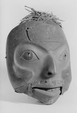 Tlingit (Native American). Talking Man Mask for Winter Ceremonial, 1868-1900. Wood, copper, fur, cedar bark, shell, 12 5/8 x 8 1/4 in. (32.1 x 21 cm). Brooklyn Museum, By exchange, 05.589.7803. Creative Commons-BY
