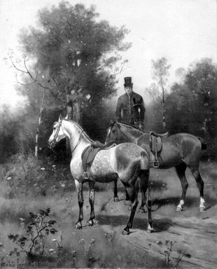 Brooklyn Museum: Horses and Mounted Groom