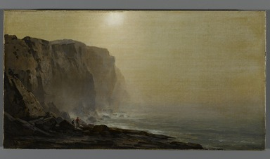 Arthur Parton (American, 1842-1914). Misty Morning, Coast of Maine, ca. late 1860s. Oil on canvas, 9 1/8 x 17 5/16 in. (23.2 x 44 cm). Brooklyn Museum, Bequest of Caroline H. Polhemus, 06.31