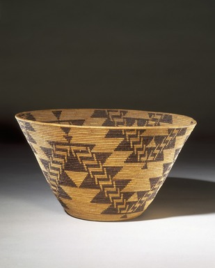 Mary Kea'a'ala Azbill (Maidu, Native American, 1864-1932). Coiled Presentation Bowl, late 19th-early 20th century. Sedge root, briar root, willow shoots, height: 8 in. (20.3 cm). Brooklyn Museum, Museum Expedition 1906, Museum Collection Fund, 06.331.8050. Creative Commons-BY